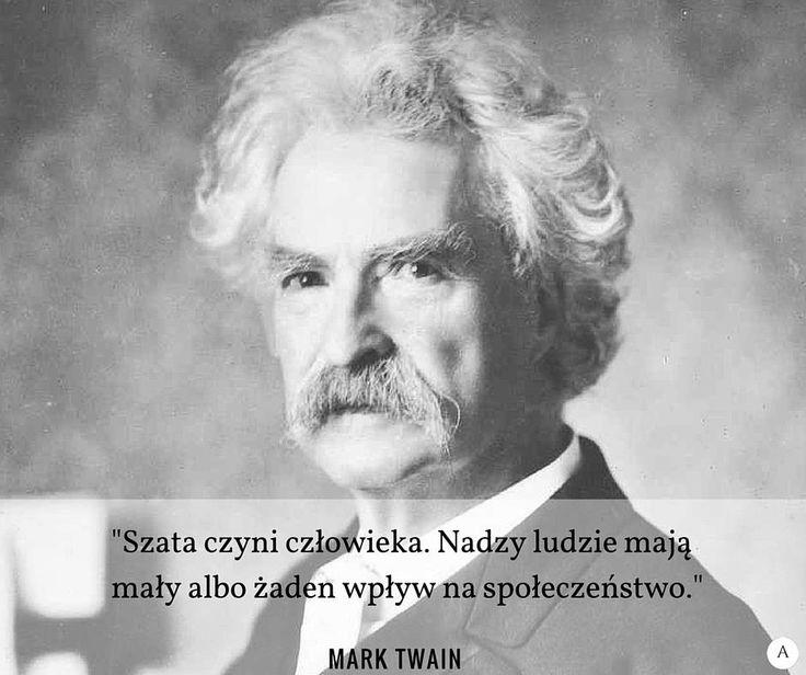 Cytat modowy - Mark Twain. Wizerunek.