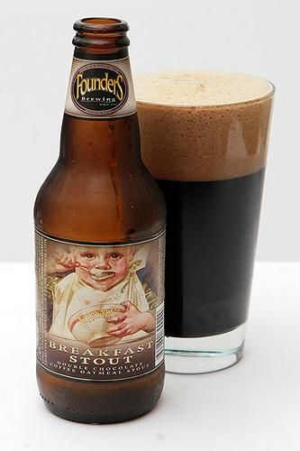 Founders Breakfast Stout. Brewed with flaked oats, bitter and sweetened imported chocolates, Sumatra and Kona coffee.