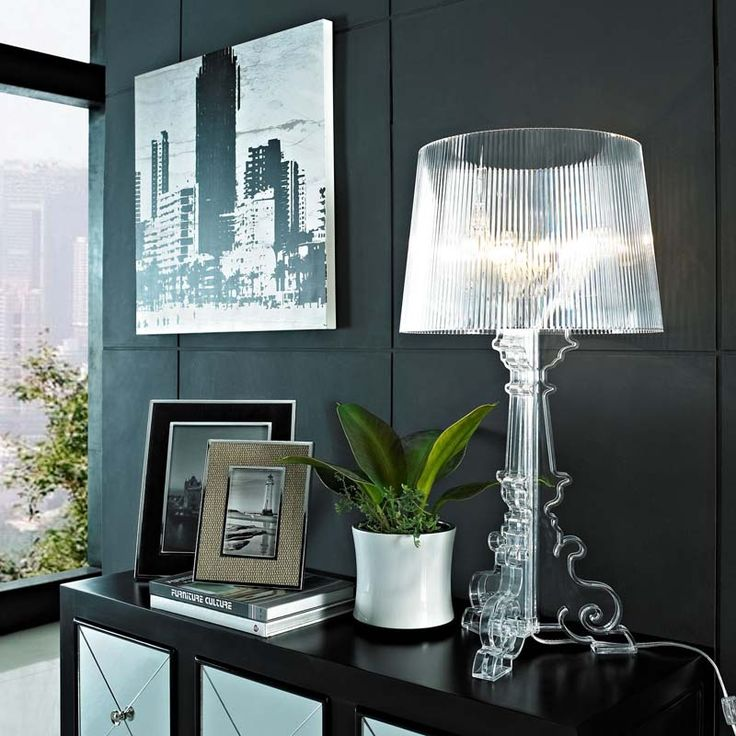 Clear Acrylic Table Lamp Modern French Light New Free Shipping See Thru Classic