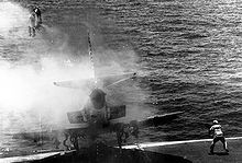 Lt. (j.g.) William Belden ejects from an A-4E Skyhawk on the deck of the USS Shangri-La in the western Pacific circa 29 July 1970. The pilot was recovered by helicopter, unharmed  *Awesome picture*
