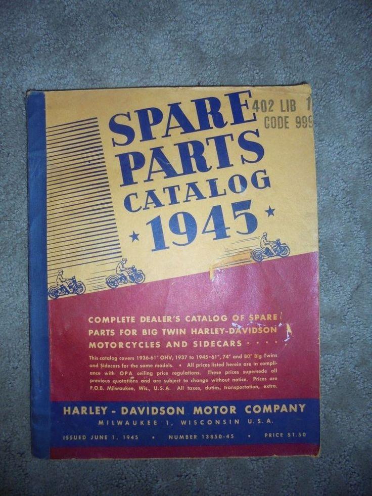 Harley Davidson Spare Parts Catalog 1936-1945 Knucklehead Flathead UL 61 74 80