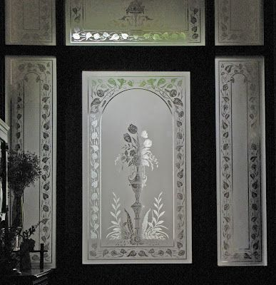 Verrier: Etched Glass from the mid to late 19th century still in place.