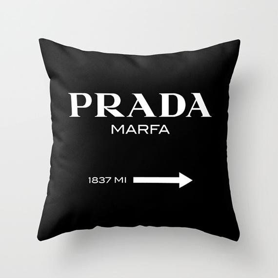 cushions, pillow cover, prada marfa