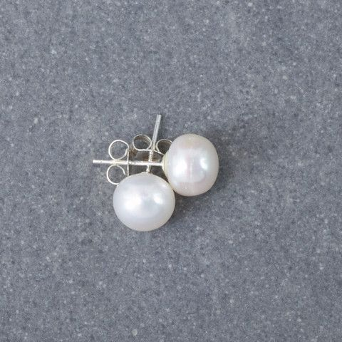 Preppy White Earrings