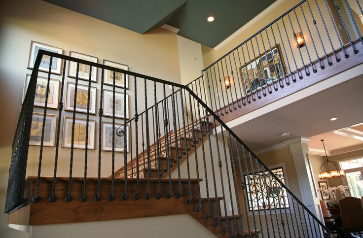 Effigy Wrought Iron Stair Railings For Creating Awesome