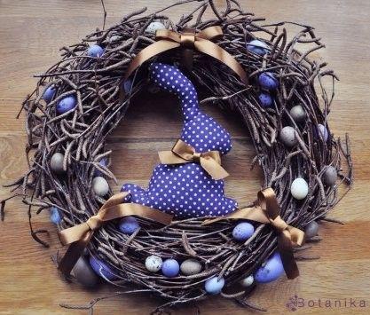 Wielkanoc :::::Blue easter wreath:::: jarný venček modrý