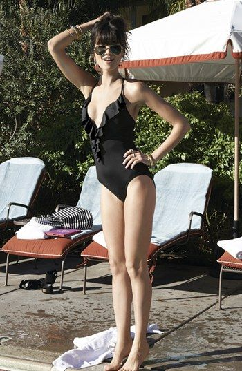 Love this ruffled one piece :)