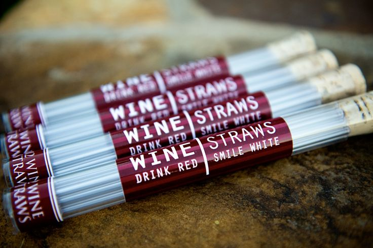 "Wine Straws - ""Drink Red, Smile White"" - Good idea for Bachelorette parties!"