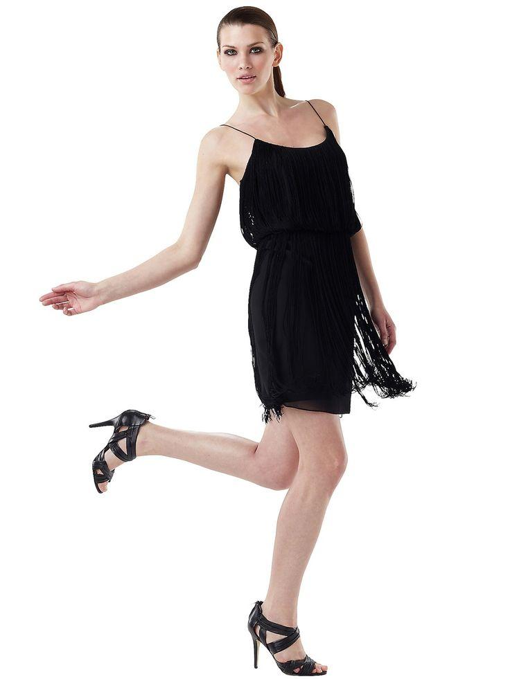Black chiffon sexy spaghetti straps neckline cinched waist for Cinched waist wedding dress