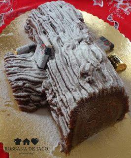 ricetta: Tronchetto di Natale in pasta di mandorla