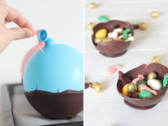 Recette facile pour Pâques : coupelles en chocolat fritures maison // Chocolate Easter Eggs