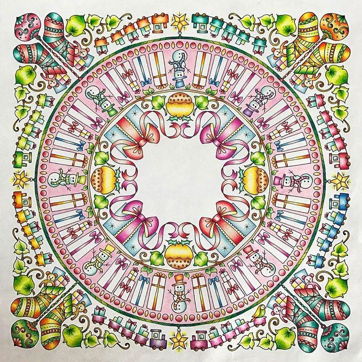 No.24 (170124) クリスマスにと思って塗ってたのに、全然間に合わなかった💦 や〜っと出来ました🤗✨ . . #塗り絵 #大人の塗り絵 #coloriage #著色本 #アートセラピー #arttherapy #ジョハンナからの贈りもの #johannabasfordchristmas #ストレス解消 #指痛い #グラデーション #gradation #色鉛筆 #coloredpencil #coloringbook #colorful #ジョバンナバスフォード #johannabasford #アンチストレス #TOMBOW #adultcoloringbook