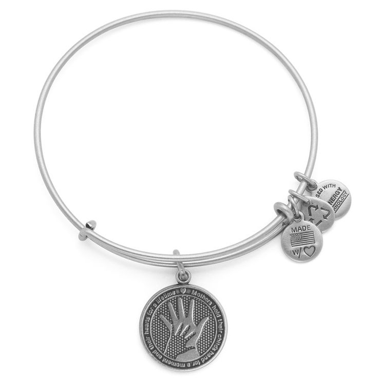"""A Mother holds her child's hand"" •Unconditional •Heartfelt • Blessing  Hand in Hand Charm Bangle 