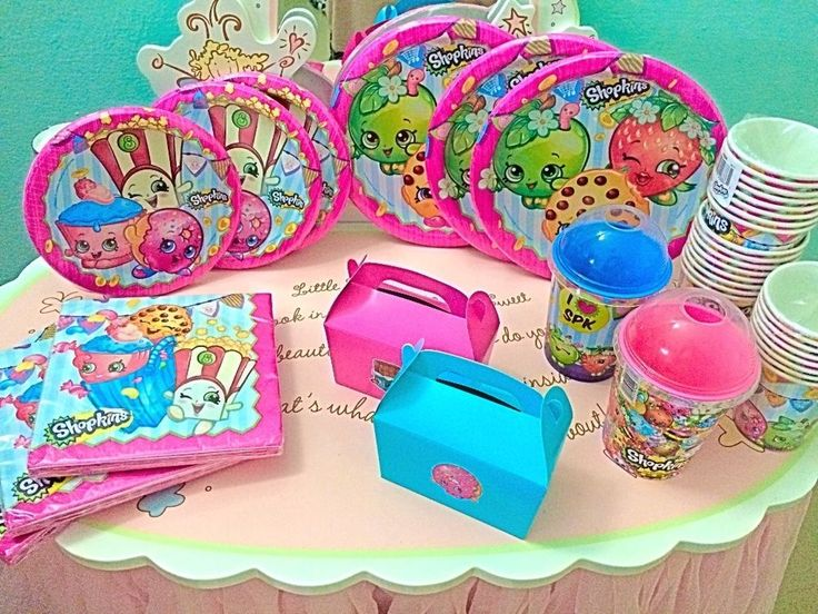 Shopkins birthday party supplies you  can get plates and cups and napkins from the dollar general for cheap