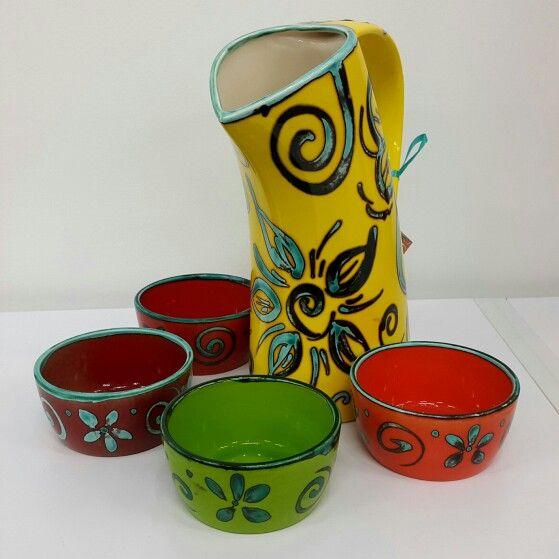 Funky dip bowls and water jug