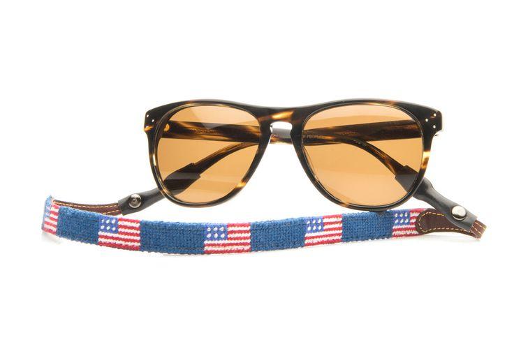 The Original American Flag Needlepoint Sunglass Strap - Tucker Blair