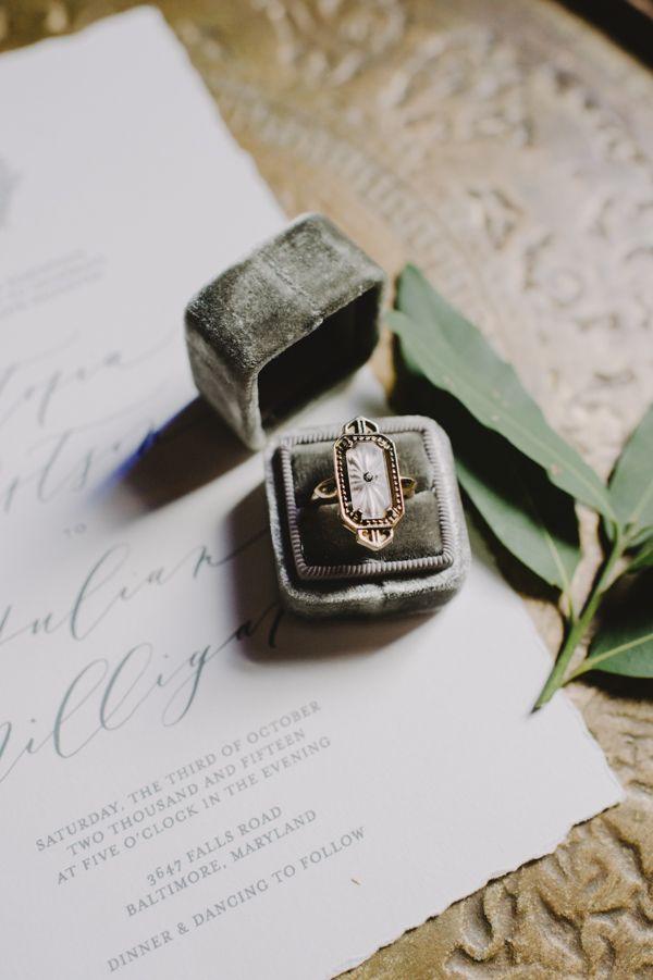 Art Deco ring. Photography from Juniper Fine Art