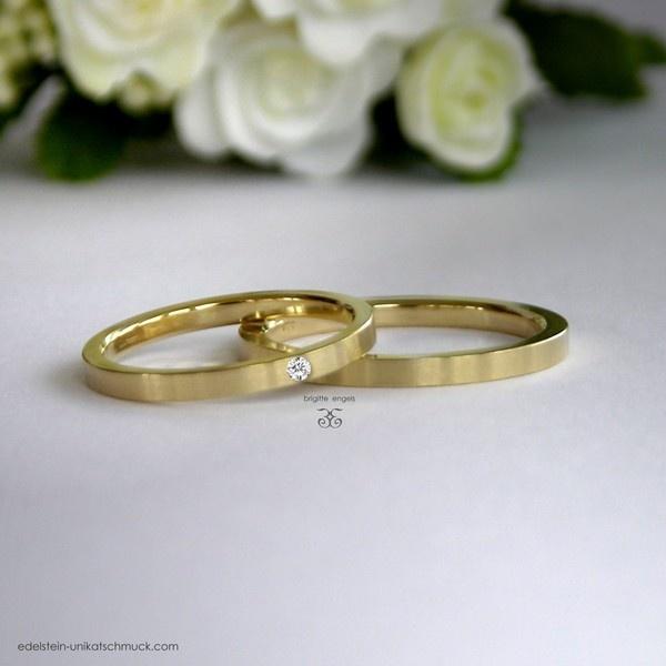 Diamant in Gold - Eheringe / Verlobungsringe