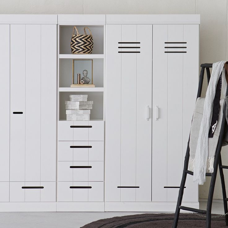 CONNECT Contemporary Drawer Cabinet In White