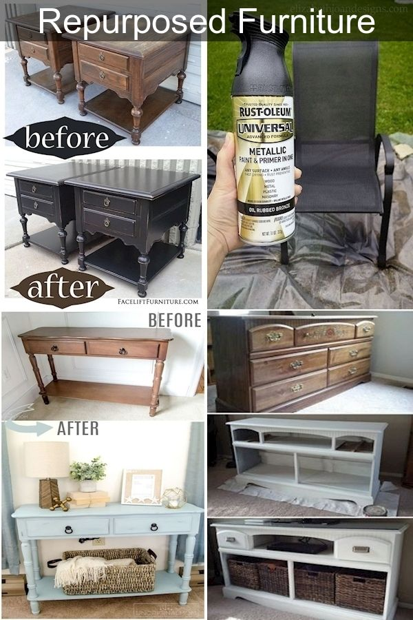 Repurposed Furniture Ideas Old Home Furniture Recycled