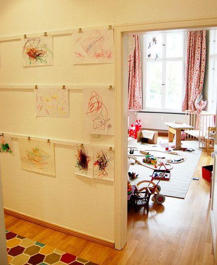 Way to hang kids artwork