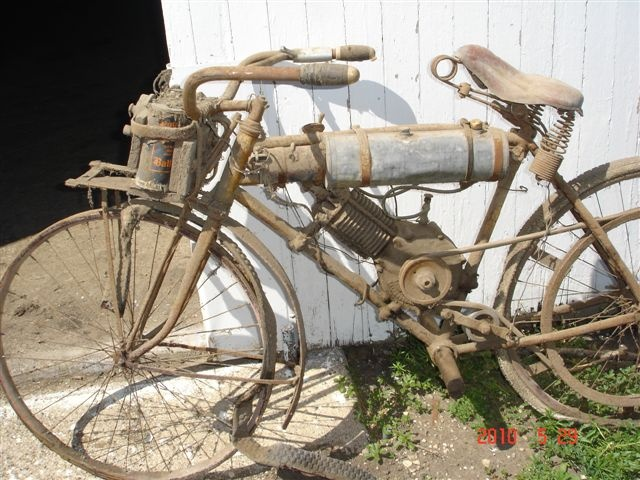 """1915 sears""""chief"""" bicycle with shaw motor attachment"""