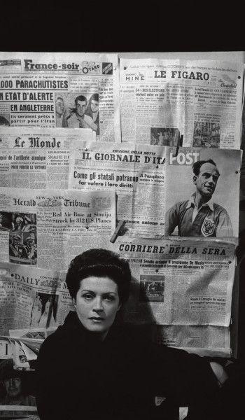 Sybille Schmitz im Atelier-Theater von Beate von Molo F.C. Gundlach München 1952
