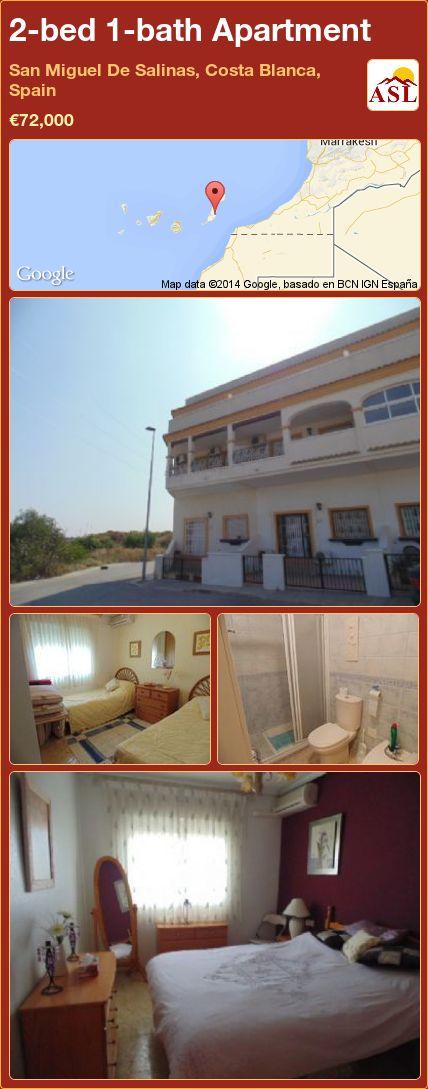 2-bed 1-bath Apartment in San Miguel De Salinas, Costa Blanca, Spain ►€72,000 #PropertyForSaleInSpain