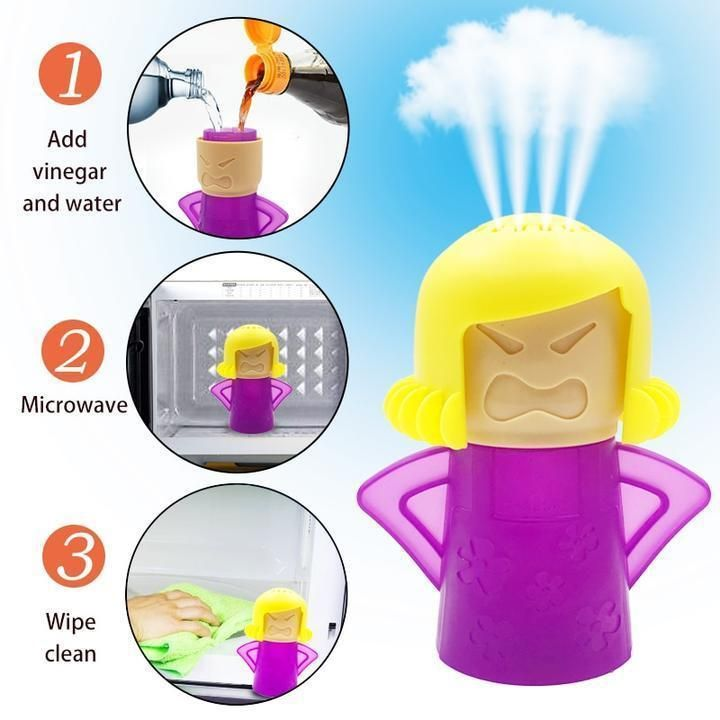 Angry mama microwave cleaner in 2020 clean refrigerator