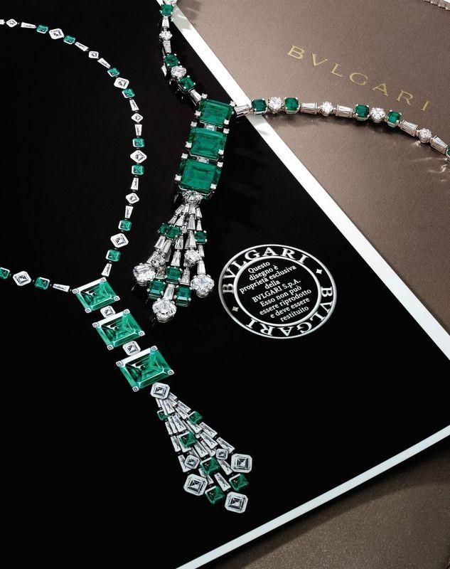 An Important Emerald and Diamond Demi-Parure, Bulgari