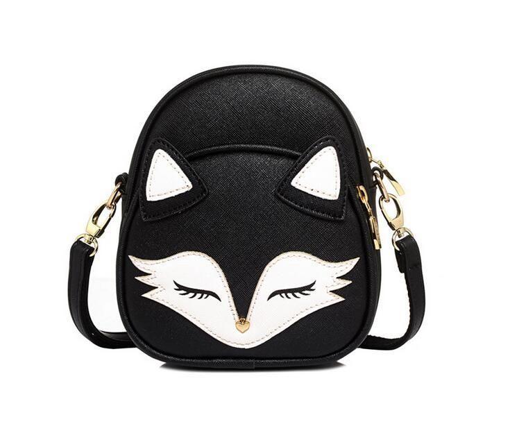 Hot New 2018 Cute Cat Shoulder Bags Fox Face Women Fashion Accessory Bags For Women Cross Body