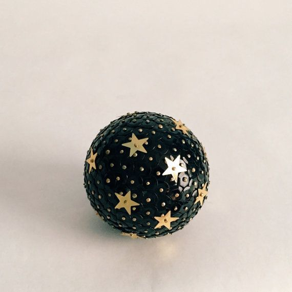 The Starry Night Ball  Handcrafted Sequined & by ShimmeringDixie