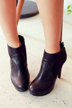 Neutral Leather Ankle Boots from en.aura-j.kr // $56.70