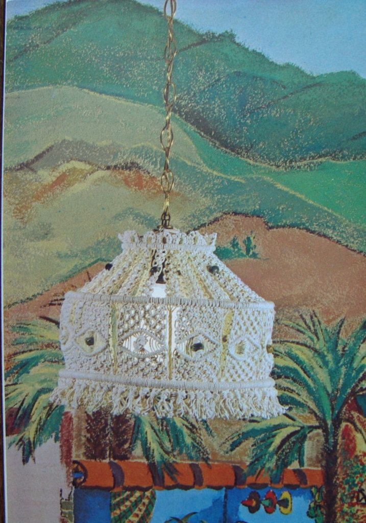 Macrame Patterns/ Vintage Macrame Hang Ups/ hanging swag lamp, lighted plant hanger, fish bowl hanger, driftwood plant hanger, retro decor by RedWickerBasket on Etsy