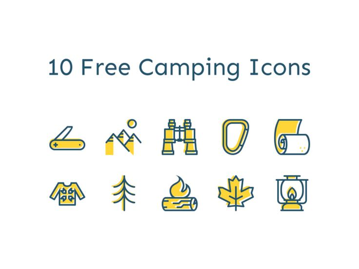 Camping Icons by Dolichocephalist - Dribbble