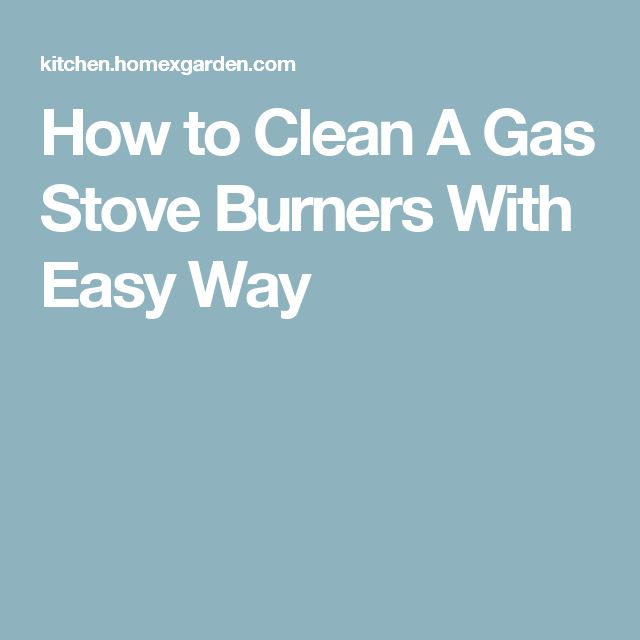how to move gas stove to clean