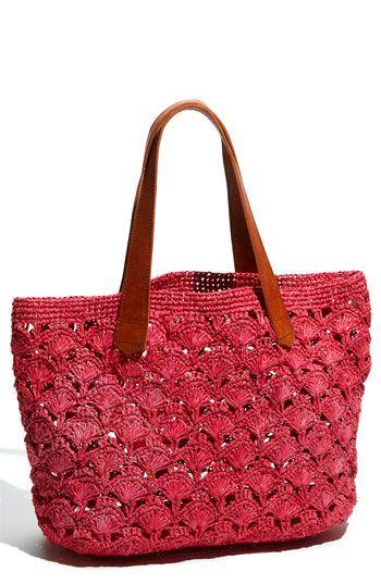 Mar y Sol 'Valencia' Crocheted Raffia Tote