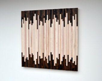 Wandkunst  Holz-Kunst-Skulptur  aufgearbeiteten Holz