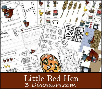 Free Printables: Little Red Hen Printable Set