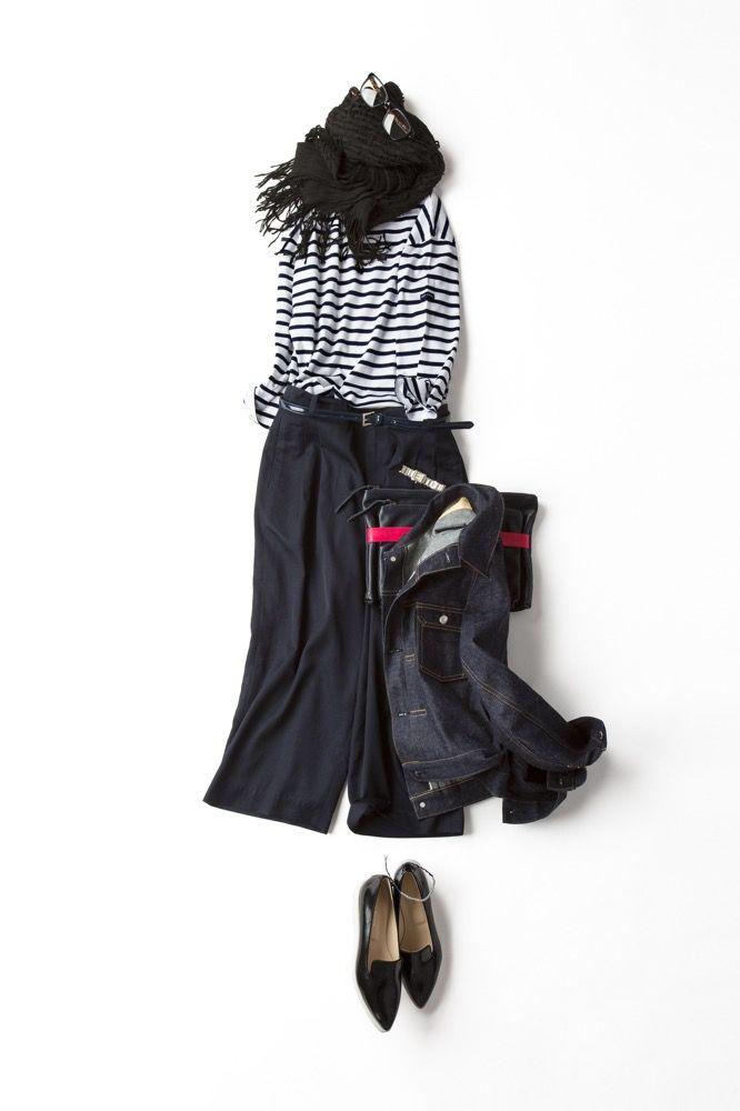 Kyoko Kikuchi's Closet | フレンチ気分の<br>ガウチョパンツ