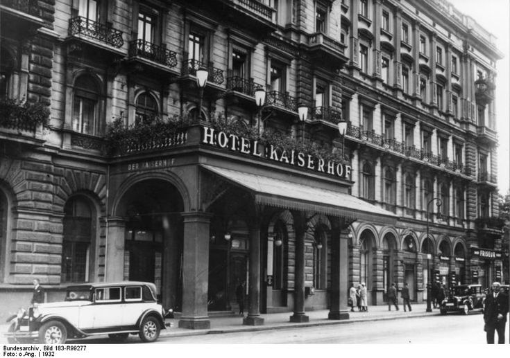 Hotel Kaiserhof, first to have electricity. Opened in 1875