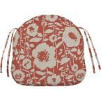 Home Decorators Collection Sunbrella Andy - Guava Contoured Outdoor Seat Cushion