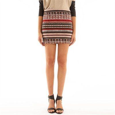 Pimkie.es : Efecto tejido y estampado azteca para esta falda tubo