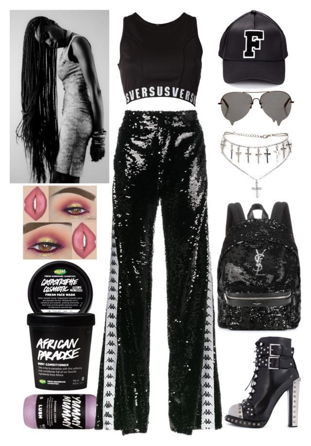 """""""London: August 17"""" by allison-syko ❤ liked on Polyvore featuring Faith Connexion, Versus, Alexander McQueen, Yves Saint Laurent, Puma, Ann-Sofie Back, Morphe, 2023, JazmineVines and RedemptionTour"""