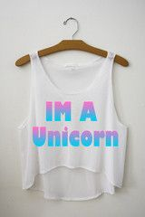 Im a unicorn Crop Top