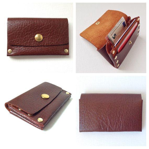 Women's handmade genuine leather wallet / purse / clutch.