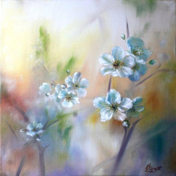 Kirschbaumblüte Blumen in Nature Stillleben von LidiaPaintingArt