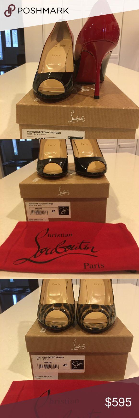 Christian Louboutin Yootish Patent Yootish Patent Red and Black Yootish Patent Brown Panther Print Christian Louboutin Shoes Heels