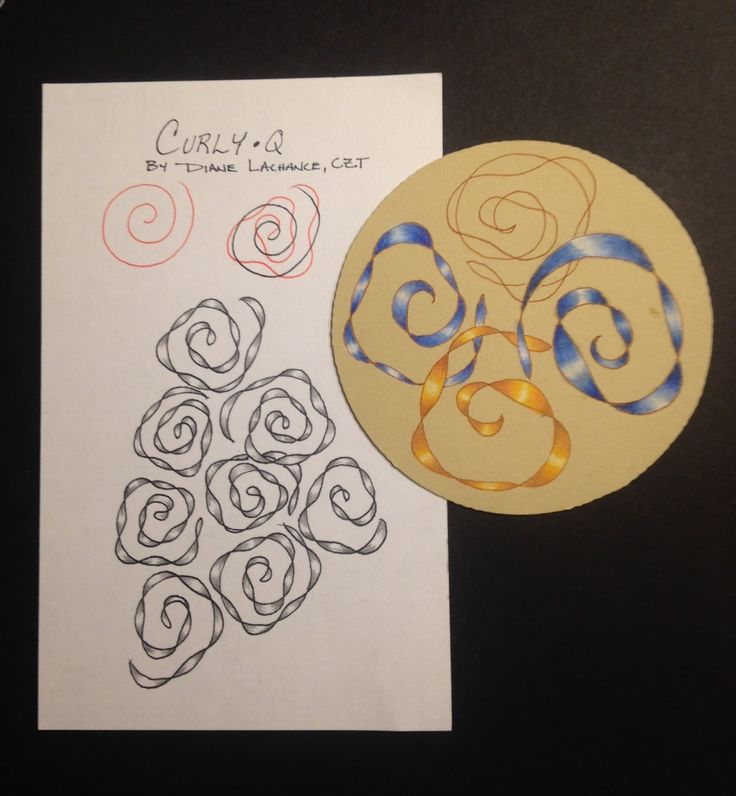 Zentangle - Time To Tangle: My New Tangle Pattern Curly•Q!