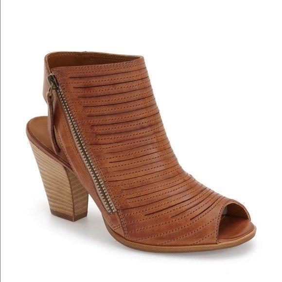 d78d97d832c Paul Green Cayanne Cuoio Leather Peep Toe Sandal NIB New Womens Women s 8.5